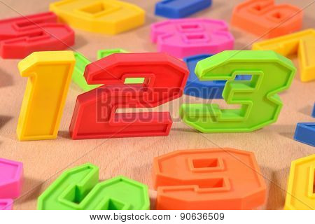 Colorful Plastic Numbers 123