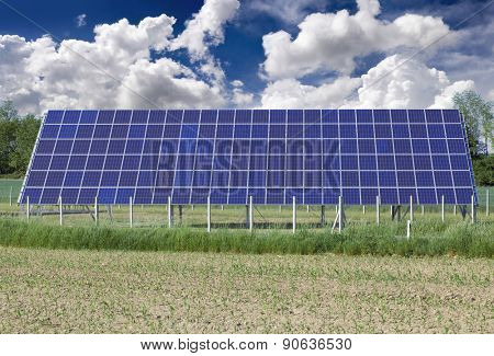 Photovoltaic Solar Panel on the Field