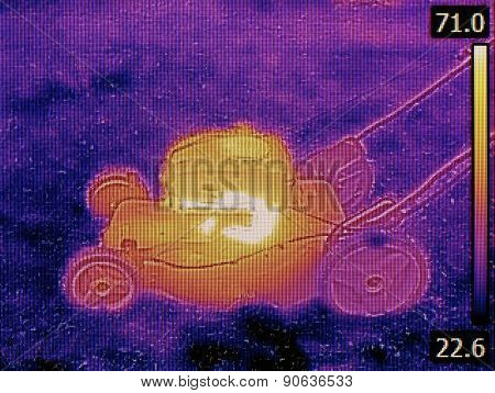 Thermal Image of LawnMower Failure Detection