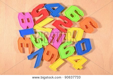 Colorful Plastic Numbers.