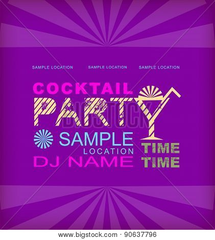 Retro Poster. Cocktail Party