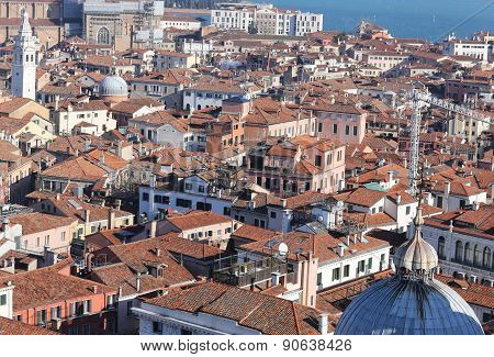 Houses And Buildings In The Venice City In Italy