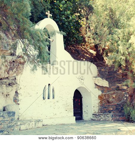 Small White Greek Orthodox Church