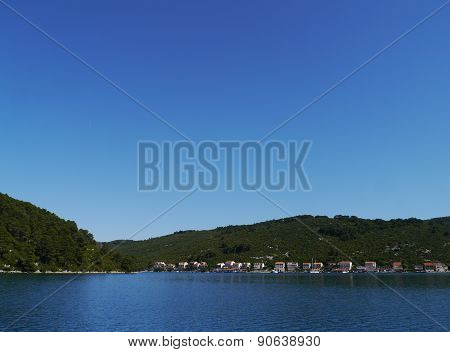 The village Polace on Mljet in Croatia