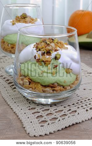 Parfait With Avocado
