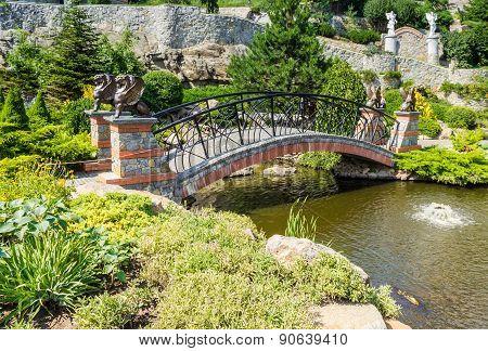 Decorative Bridge In The Park