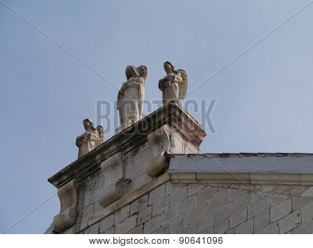 Sculptures of the church of  Kastel Stafilic