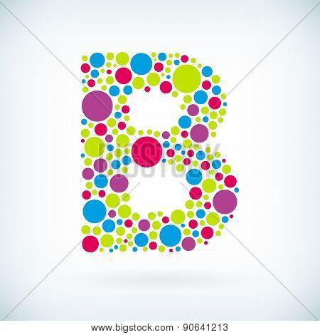 Modern Letter B Circle Symbol Icon