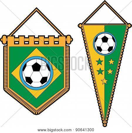 Brazil soccer pennants