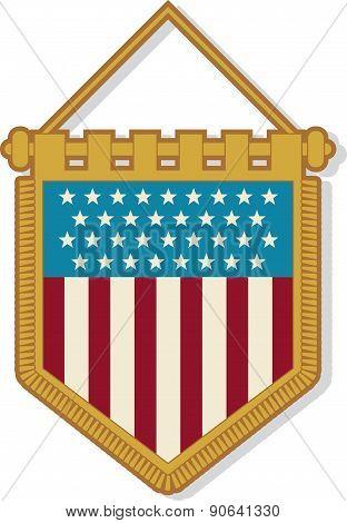 USA Pennant