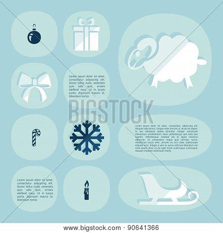 Christmas flat infographic