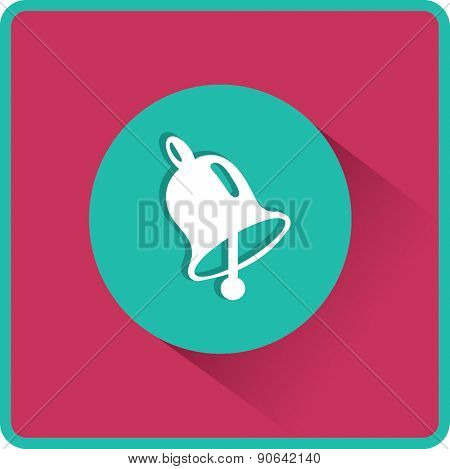 School Bell, Flat Vector Icon.