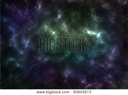 Universe Space Vector Illustration