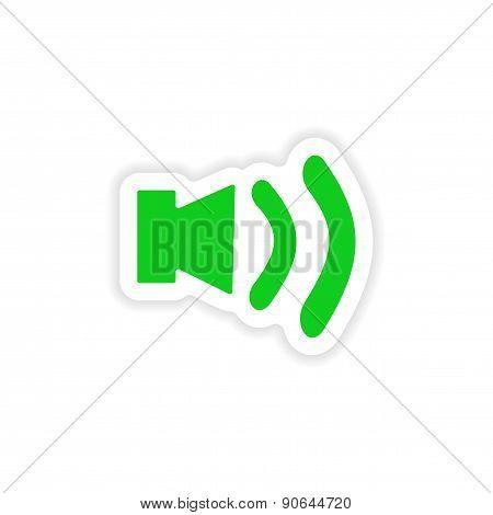 icon sticker realistic design on paper volume