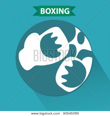boxing icon in flat design