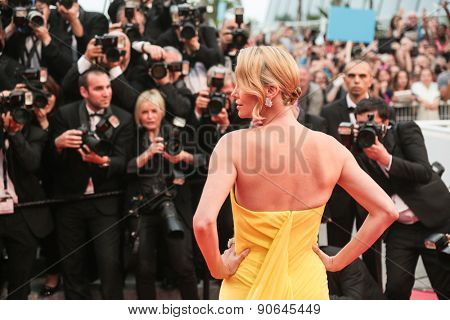 Charlize Theron attends the 'Mad Max : Fury Road' Premiere during the 68th annual Cannes Film Festival on May 14, 2015 in Cannes, France.