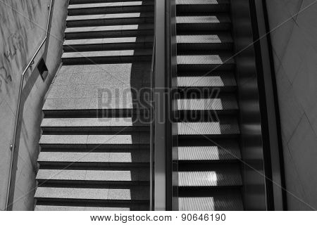 Staircase And Escalator
