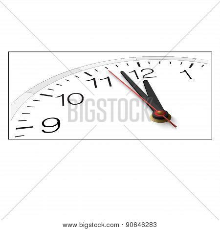 The Clock And Timestamp With Numbers Isolated On A White Background.