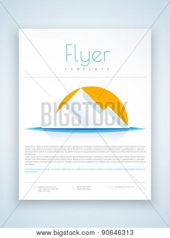 Creative flyer, template or brochure with abstract design for your business presentation.