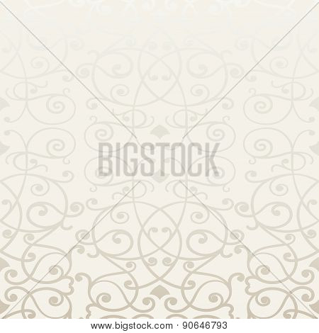 Vector ornate seamless border in Eastern style. Line art element for design, place for text. Ornamen