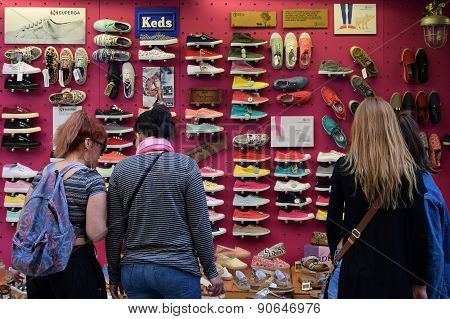 Women Buying Shoes
