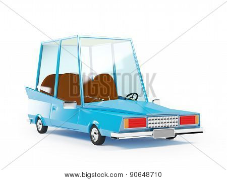 cartoon 1970 car