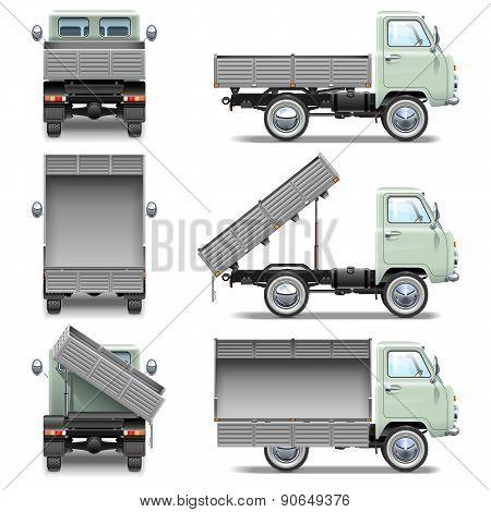 Vector Tipper Truck