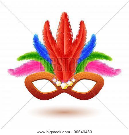 Orange Carnival Mask