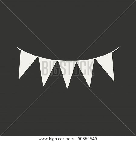 Flat in black and white mobile application garland