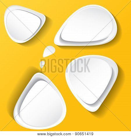 white modern paper banners set