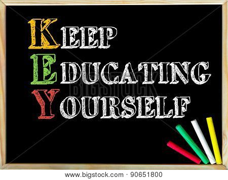 Acronym Key As Keep Educating Yourself
