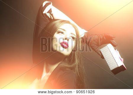 Portrait Of Beautiful Caucasian Girl