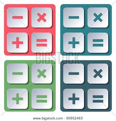 Icons Calculator, Vector Illustration.