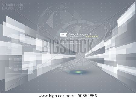Abstract grey background. Vector.