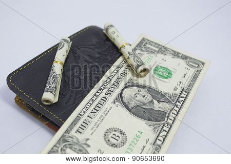 three dollars in wallet