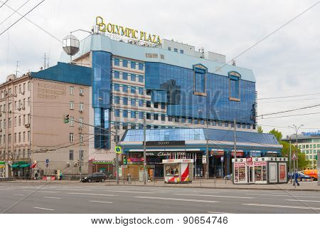 Olympic Plaza Shopping Mall In Moscow