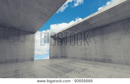 Abstract Architecture Background, Empty Room