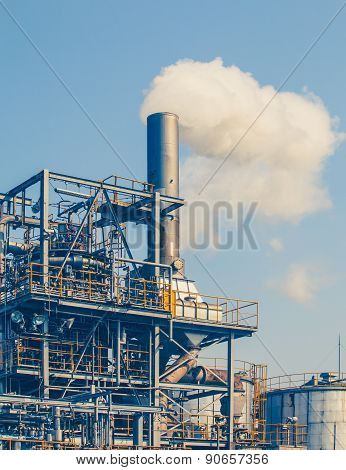 Industrial view at oil refinery plant