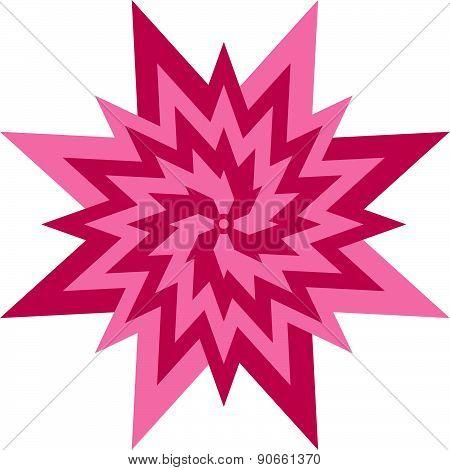 Flower star symbol