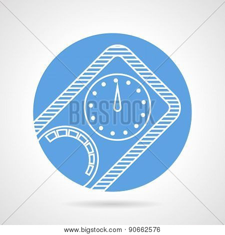 Diving manometer round vector icon