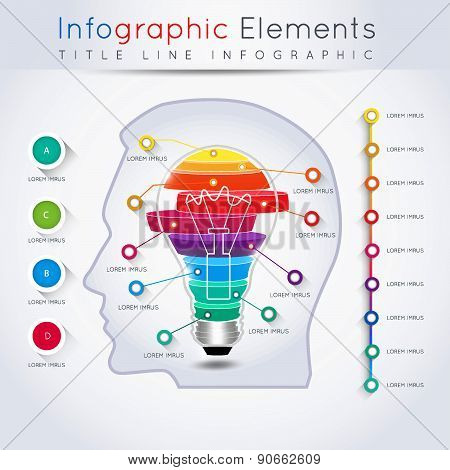 Abstract Business Info-graphics. For Web And Mobile Applications, Illustration Template For Design,