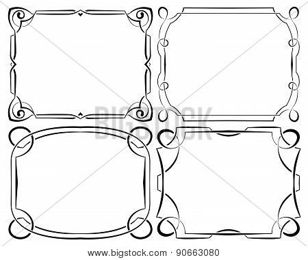 Vector Set Of Beautiful Framework