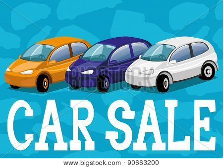 Vector illustration. Car sale.