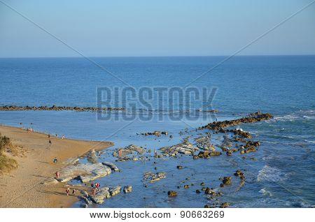 beach at Scala dei Turchi near Agrigento, Sicily