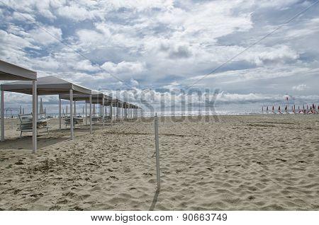 Gazebo On The Beach In Spring