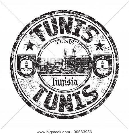 Tunis grunge rubber stamp