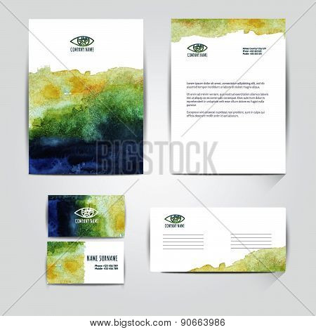 Corporate Identity Business Design. Vector File Is Well Organized, Grouped, Templates With Clipping