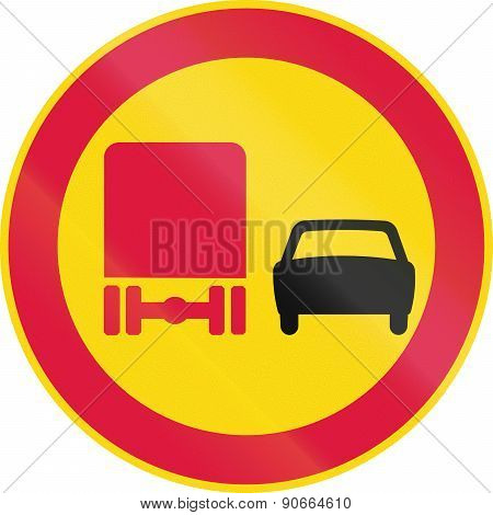 No Overtaking By Lorries In Finland