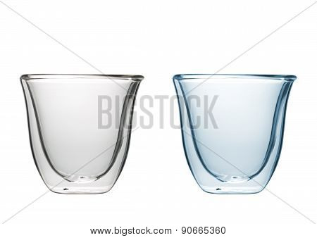 Toned And Untoned Isolated Glasses