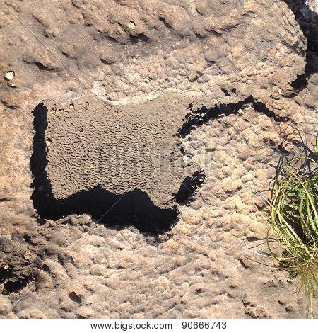 Impressed rock